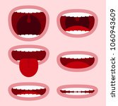 mouths set with different... | Shutterstock .eps vector #1060943609