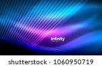 shiny straight lines on dark... | Shutterstock .eps vector #1060950719