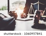 business woman and lawyers... | Shutterstock . vector #1060957841