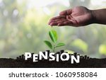 pension money savings financial ... | Shutterstock . vector #1060958084