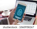 cyber security business ... | Shutterstock . vector #1060958267