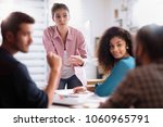 meeting at the startup office.... | Shutterstock . vector #1060965791