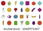 vegetables icon set. color... | Shutterstock .eps vector #1060971467