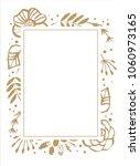 flower frame template for... | Shutterstock .eps vector #1060973165