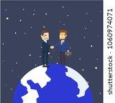two businessman handshake on... | Shutterstock .eps vector #1060974071