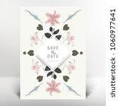 botanical greeting invitation... | Shutterstock .eps vector #1060977641