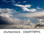 white  grey heavy fluffy ... | Shutterstock . vector #1060978991