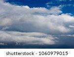 white  grey heavy fluffy ... | Shutterstock . vector #1060979015