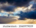 white  grey heavy fluffy ... | Shutterstock . vector #1060979039