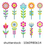 wild field flowers in colorful...   Shutterstock .eps vector #1060980614