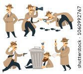 detective man on investigation... | Shutterstock .eps vector #1060992767