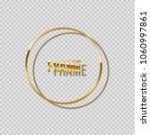 golden ring with shadow... | Shutterstock .eps vector #1060997861