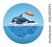 cute orca or the killer whale... | Shutterstock .eps vector #1061003291