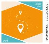 location icon symbol | Shutterstock .eps vector #1061005277