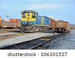 Freight Station With Trains ...