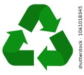 recycle icon on white... | Shutterstock .eps vector #1061018345