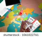 travel accessories vector... | Shutterstock .eps vector #1061022761