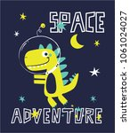 space dinosaur vector... | Shutterstock .eps vector #1061024027
