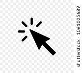 arrow pointer or click button... | Shutterstock .eps vector #1061025689