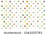 vegetables set fruits... | Shutterstock .eps vector #1061035781