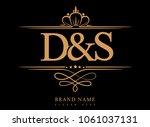 d s initial logo  ampersand... | Shutterstock .eps vector #1061037131