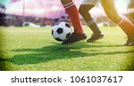 soccer or football player... | Shutterstock . vector #1061037617