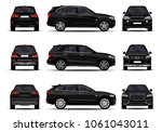 realistic suv cars set. front... | Shutterstock .eps vector #1061043011