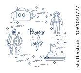 children's toys for the boy ... | Shutterstock .eps vector #1061050727