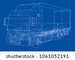 european truck outlined.... | Shutterstock . vector #1061052191