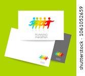 marathon logo.  sport... | Shutterstock .eps vector #1061052659