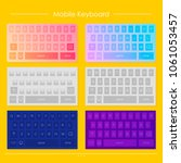 template of mobile keyboard...