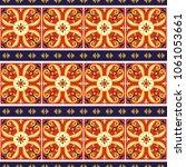 italian tile pattern vector...   Shutterstock .eps vector #1061053661