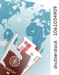 world travel concept. vector... | Shutterstock .eps vector #1061054909