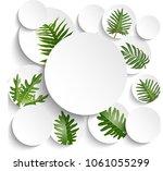 leaves tropical palm leaves... | Shutterstock .eps vector #1061055299