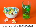 harmful food additives. there... | Shutterstock . vector #1061056949