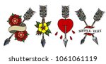 vector set of arrows... | Shutterstock .eps vector #1061061119