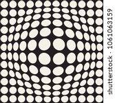 halftone bloat effect optical... | Shutterstock .eps vector #1061063159
