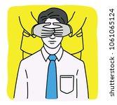 portrait of young businessman... | Shutterstock .eps vector #1061065124