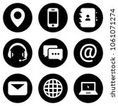 set of white icons isolated... | Shutterstock .eps vector #1061071274