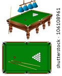 the russian billiard table with ... | Shutterstock .eps vector #106108961