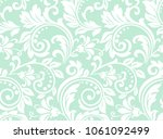 flower pattern. seamless white... | Shutterstock . vector #1061092499