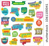 sale stickers and tags... | Shutterstock .eps vector #1061100041