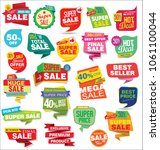 sale stickers and tags... | Shutterstock .eps vector #1061100044