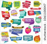 sale stickers and tags... | Shutterstock .eps vector #1061100047