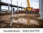 industrial engineering with... | Shutterstock . vector #1061102795