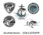 image bass fish icons   Shutterstock .eps vector #1061105699