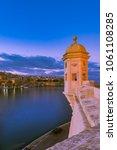 famous senglea guardiola tower...   Shutterstock . vector #1061108285