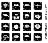umbrella icons set vector...   Shutterstock .eps vector #1061123594