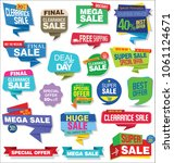 modern sale stickers and tags... | Shutterstock .eps vector #1061124671