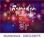 ramadan mubrark text with... | Shutterstock .eps vector #1061126075